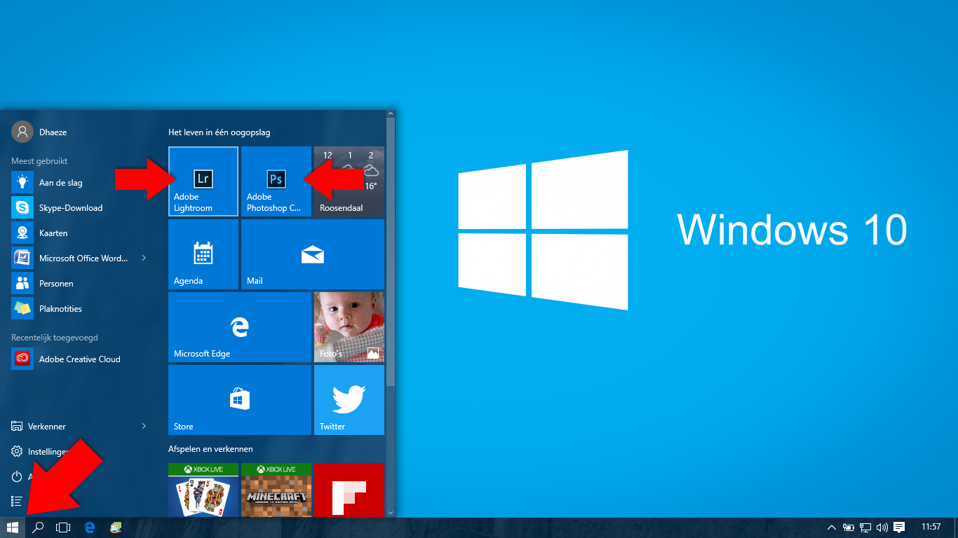 Kennismaking windows 10 for Windows 7 bureaublad