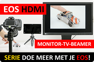 EOS met HDMI op monitor/tv/beamer